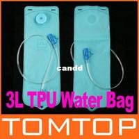 Wholesale 3L Blue TPU Bicycle Mouth Water Bag Water Bladder Bag Hydration Camping Hiking Climbing H8031 Freeshipping Dropshipping