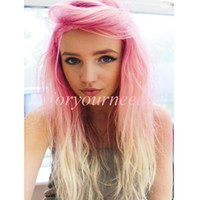 silk straight Indian hair French Lace On Sale 100% Human Hair Straight Fashion Celebrity Sexy #pink 613 Two Tone 5A Peruvian Virgin Remy Hair Lace Front Wigs