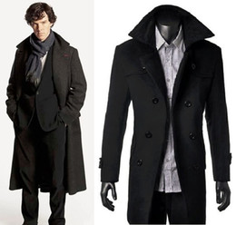 Wholesale Detective Sherlock Holmes Cape Coat Overcoat Cosplay Costume Luxury Version Gift