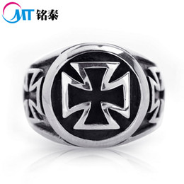 Wholesale Cheap Jewelry Gifts For Men - NEW ARRIVAL HOT CHEAP STAINLESS STEEL CROSS VINTAGE BIKER RING FACTORY PRICE MEN,S JEWELRY FOR FREE SHIPPING