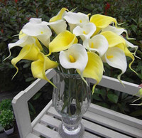 Wholesale 10PCS Calla Lily Bridal Wedding Bouquets Latex Real Touch Flower Home Decoration
