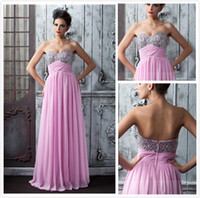 Wholesale Fashion Sexy A Line Floor Length Sweetheart Beading Prom Dress Long Prom Bridesmaid Dresses