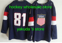 Cheap Team USA 2014 Olympic Hockey Jerseys #81 Blue Jersey,Cheap Hockey Jerseys,Ice Hockey Jersey Online Store,Outdoor Apparel sportswear