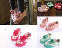 Wholesale 10 off Pure fresh lace baby shoes ladies casual shoes yards children shoes baby wear sports girl shoes pairs TP