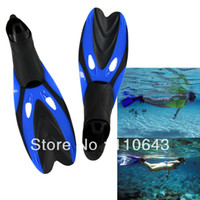 Wholesale New Blue Submersible Short Fins Adult Child Swimming Fin Flippers Snorkel Triratna TK1020