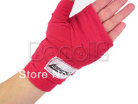 Wholesale High Quality Red M Length Boxing Hand Wraps Sanda Bandage Cotton Bandages TK0947