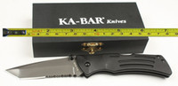 Wholesale New Ka Bar Aluminium handle Serrated Blade Folding Pocket Knife KB01