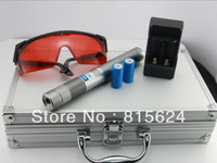Cheap Wholesale - 20000mw blue laser pointers 450nm burning match cigarettes wood+5 caps