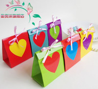 Favor Boxes Red Paper 2014 Hot 100pcs lot Europe Style Love Heart Wedding Candy Boxes Personality Wedding Party Favor Box With Ribbon Bows B2621