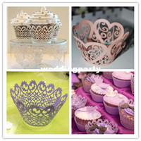 Wholesale 2014 hot selling Baking Cupcake wrapper purple white surrounding edge cupcakes