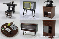 Wholesale 5SE New Popular Dollhouse Miniature Furniture table sewing machine tv cabinet telephone