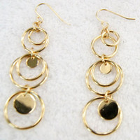Wholesale large Ball hoop Earring Dangle Chandelier Golden Round Eardrop women European Charm Earrings new Euramerican cheap Fashion Jewelry