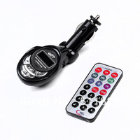 Wholesale Car kit MP3 Foldable FM Transmitter for SD MMC USB CD