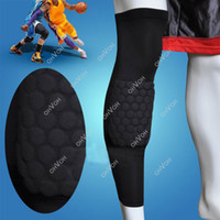 Best S5Q Honeycomb Pad Crashproof Antislip Basketball Leg Knee Long Sleeve Protector Gear AAACWB