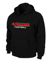 Wholesale 49ers Hoodie Black Football Hoodies with Team Logo or Team Name Super Bowl Players Football Jackets Athletic Apparel Warm Jackets