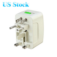 Wholesale US Stock Universal Travel Power Plug All in One Power Plug Adaptor for US UK EU AU Surge protection