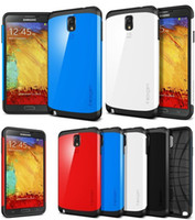 Best SGP Spigen Slim Armor Cell Phone Cases For Samsung Galaxy S3 S4 Note 2 3 Note2 Note3 i9300 i9500 N7100 N9000 Shock Proof Case Retail Box