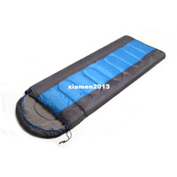 Wholesale Outdoor envelope sleeping bag thickening thermal autumn and winter single double patchwork camping