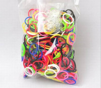 Wholesale loom kit for kids rainbow loom bands colorful Rubber refill bag bands quot S quot clip via Fedex UPS