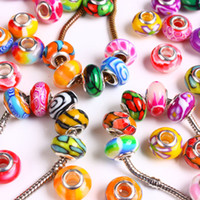 Wholesale Finding x Bright Color Fimo Polymer Clay Charm Beads Fit European Bracelet