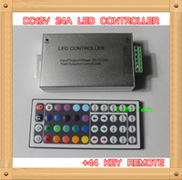 Wholesale RGB LED Controller with keys Remote controller for SMD5050 RGB Led Strip Light DC12V V A W