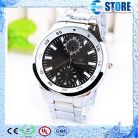 Wholesale Fashion Luxury MAN watch stainless steel band Quartz Alloy dial case M