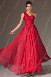 New Style 2019 Elegant Floor Length Beaded Chiffon One-Shoulder Prom Dresses Party Dresses 100% Same Evening Party Gowns Formal