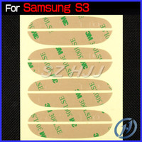 Wholesale Pre Cut M Adhesive Sticker for Samsung Galaxy S3 I9300 S4 I9500 Note Note N9000 S3 Mini S4 Mini Front Glass Lens Screen DHL EMS