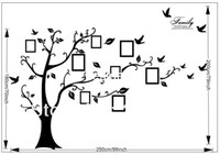 Removable wall quotes - Beautiful Family XXL Size CM Family Picture Photo Frame Tree Wall Quote Art Stickers Vinyl Decals Home Decor AB XL