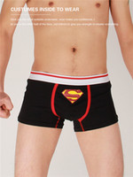 Wholesale Fashion New Cotton Superman Mens Underwear Strong Sexy Boxer Brief Underpant