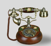 Wholesale Dial fashion antique telephone rotating classical telephone vintage telephone
