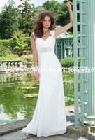 Sheath/Column Model Pictures Sweetheart 2014 Grecian Chiffon Jeweled Waist Wedding Dress Floor Length Backless Sexy Wedding Dresses