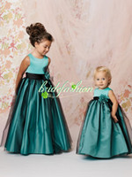 Cheap 2014 Beautiful Ball Gown Flowergirl Dresses Jewel Girls Pageant Dresses Special Satin Organza Princess kids Bridesmaid Dresses 1278