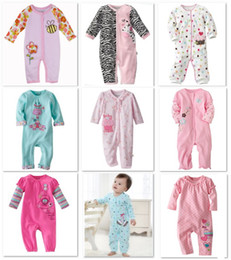 2014 HOT Sale Baby Rompers Cotton Bodysuits Long Pajamas Romper First Movement 1pcs Toddler ONE-PIECES Clothes