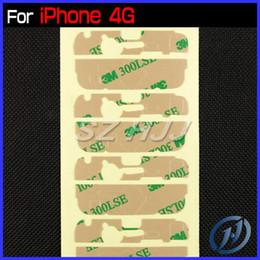 Envío libre del iphone de la manzana en venta-Etiqueta engomada adhesiva del Pre-Cut 3M para la parte de reparación de cristal delantera de la pantalla de la lente del iPhone 5 5C 5S del iPhone 4 4S iPhone5 Envío libre de DHL EL ccsme
