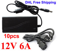Wholesale 10pcs V A W AC DC Power adapter Supply switching Charger adaptor mm x mm mm x mm High quality DHL Shipping