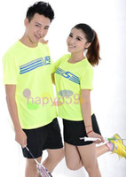Wholesale free ship fashion high quality original VS men women badminton clothes shirt shorts badminton jersey badminton sportswear