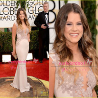 Wholesale 71st Annual Golden Globe Awards Sosie Bacon Sexy Mermaid Jewel Chiffon Celebrity Dresses with Appliques Red Carpet Prom Gowns BO4217