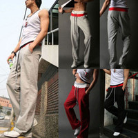 athletic fit pants - New Men s Gym Yoga Athletic Loose fit Sport Casual Leisure Long Pants Trousers