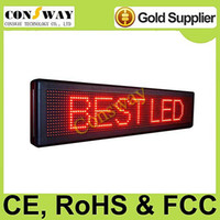 Wholesale programmable led sign with red color and size cm W cm H cm D