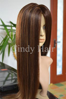 Wholesale Hot New Brazilian Front Lace Wigs with Baby Hair Silk Straight Hair Charming Style Excellent Quality and Price for Sale Online CHFW004