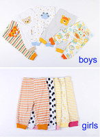 Wholesale New free shipment Retail pack Baby Girls Boys spring and autumn Animal Pants infant leggings cotton thin pants trousers M