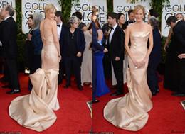 Wholesale Stunning th Golden Globe Awards Celebrity Red Carpet Dresses Anna Gunn Strapless Backless Sheath Floor Length Long Formal Evening Gowns