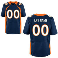 Wholesale Cheap Custom Jerseys Pro Bowl Broncos Navy Blue Elite Mens American Football Jerseys Discount Top Quality Brand Embroidery Jerseys