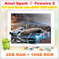 "Cheap Ainol Novo 9 Spark II Firewire 2 ATM7039 Quad Core 1.6GHz 9.7"" 2048*1536 Retina 2G 16G Dual Camera 13000 mAh Battery Free shipping"