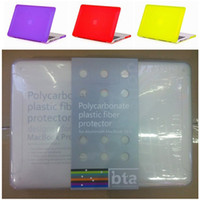 Wholesale Frosted Thick Hard Plastic Case For MacBook Pro inch Colorful PC Shell Cover For Apple Laptop Best Quality