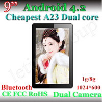 Wholesale Cheap Inch Allwinner A23 Tablet PC GHZ Bluetooth GB GB mah Dual Core HD Capacitive android dual camera tablet pc New