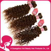 Wholesale 4pcs Indian human Hair weft Deep Wave Curly hair Extensions Color b