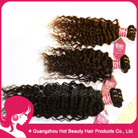 Wholesale Deep Curly Human Hair Weave Extension Indian human Hair Weave Color b