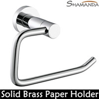 Wholesale Bathroom Accessories Solid Brass Copper Chrome Finished Toilet Paper Holder Paper Roll Rack Bathroom Product